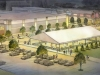 Seasonal Ice Rink Rendering for Cincinnati Oct 2003